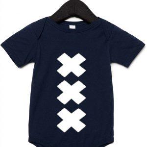 Donkerblauw rompertje XXX
