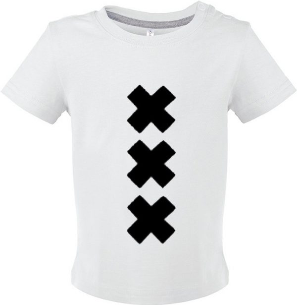 Wit shirt baby XXX